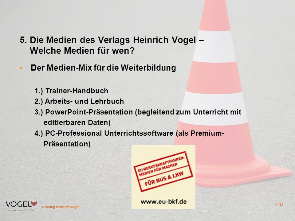 5. Die Medien des Verlags Heinrich Vogel – Welche Medien für wen