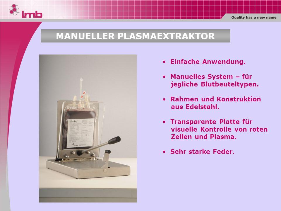 MANUELLER PLASMAEXTRAKTOR