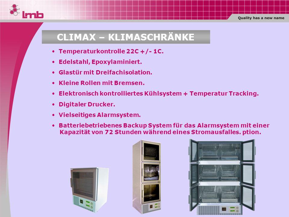CLIMAX – KLIMASCHRÄNKE