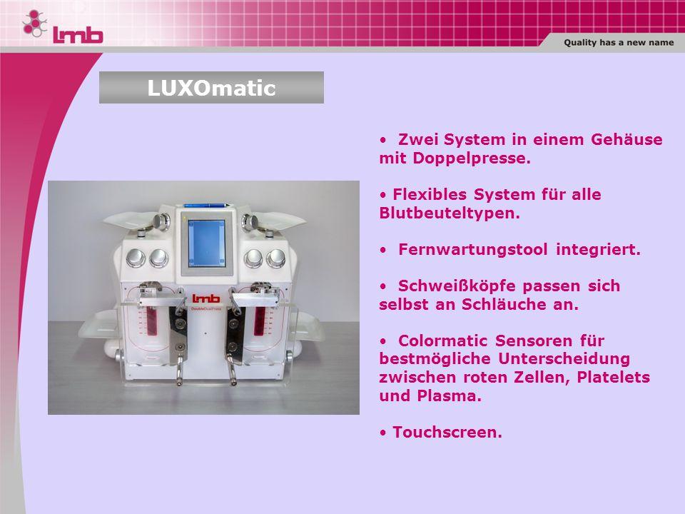 LUXOmatic Zwei System in einem Gehäuse mit Doppelpresse.