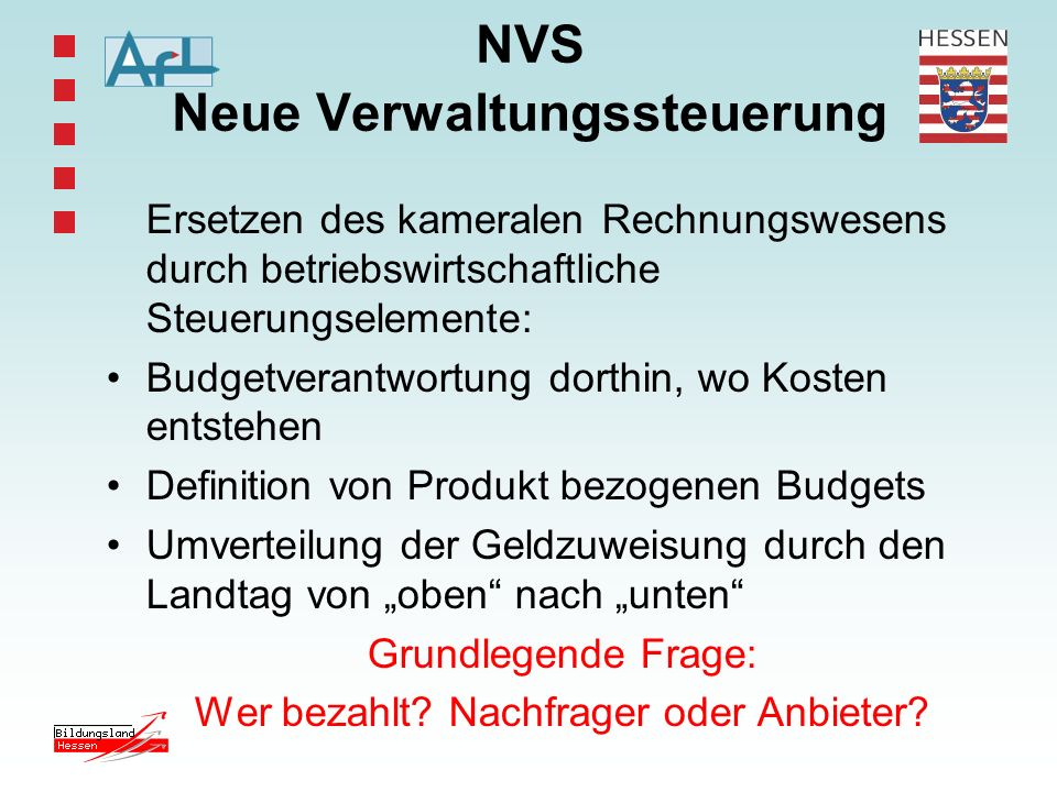 NVS Neue Verwaltungssteuerung
