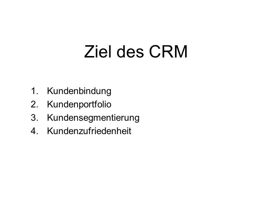 Kundenbindung Kundenportfolio Kundensegmentierung Kundenzufriedenheit