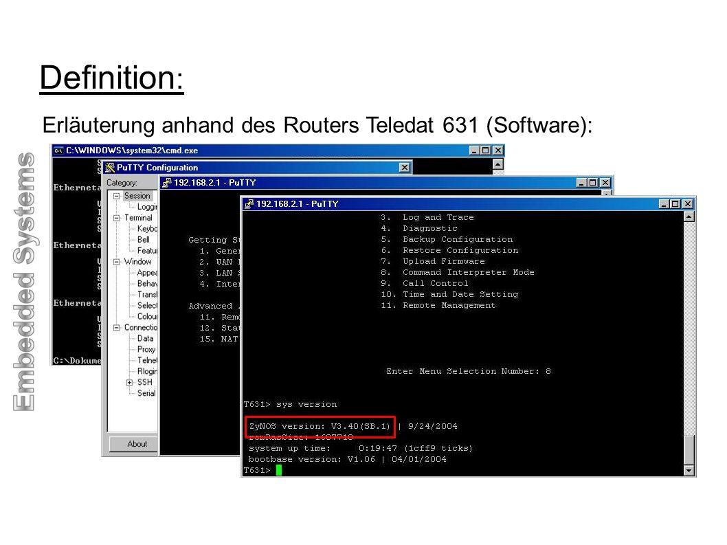 Definition: Erläuterung anhand des Routers Teledat 631 (Software):