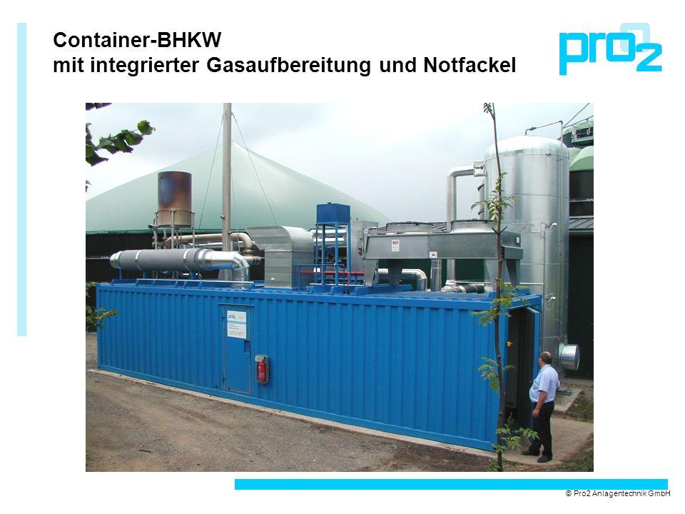 mit integrierter Gasaufbereitung und Notfackel
