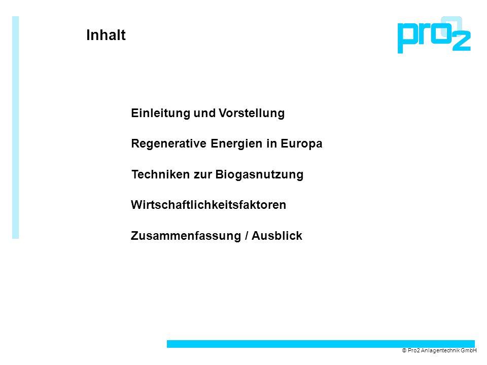 Inhalt Einleitung und Vorstellung Regenerative Energien in Europa