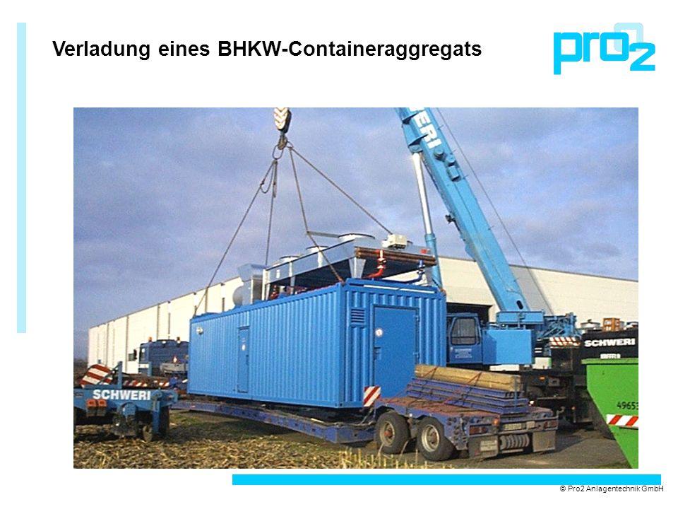 Verladung eines BHKW-Containeraggregats