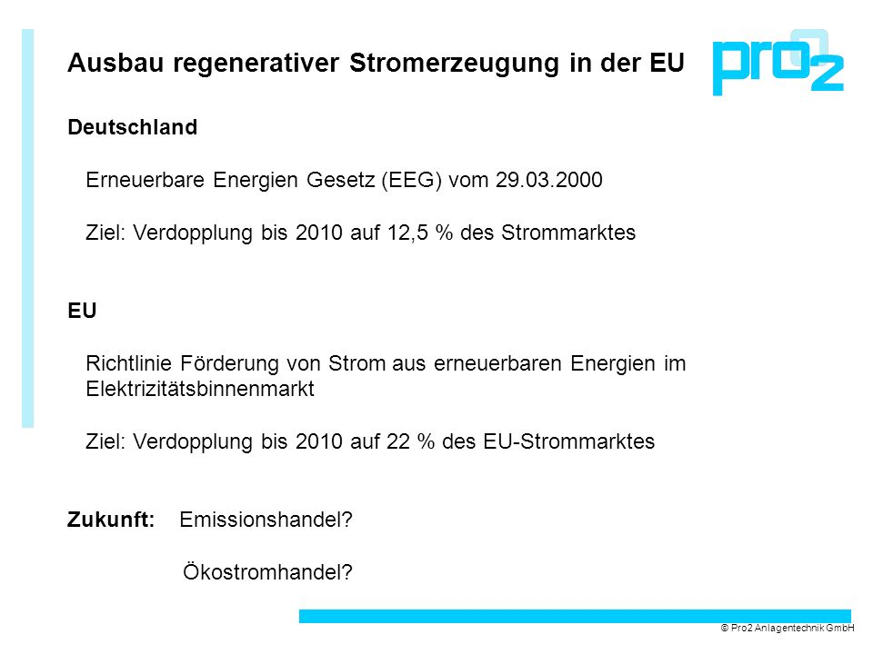 Ausbau regenerativer Stromerzeugung in der EU
