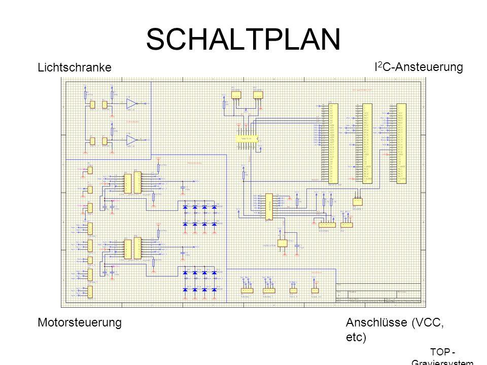 SCHALTPLAN Lichtschranke I2C-Ansteuerung Motorsteuerung