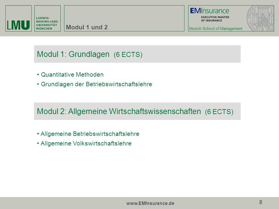 Modul 1: Grundlagen (6 ECTS)