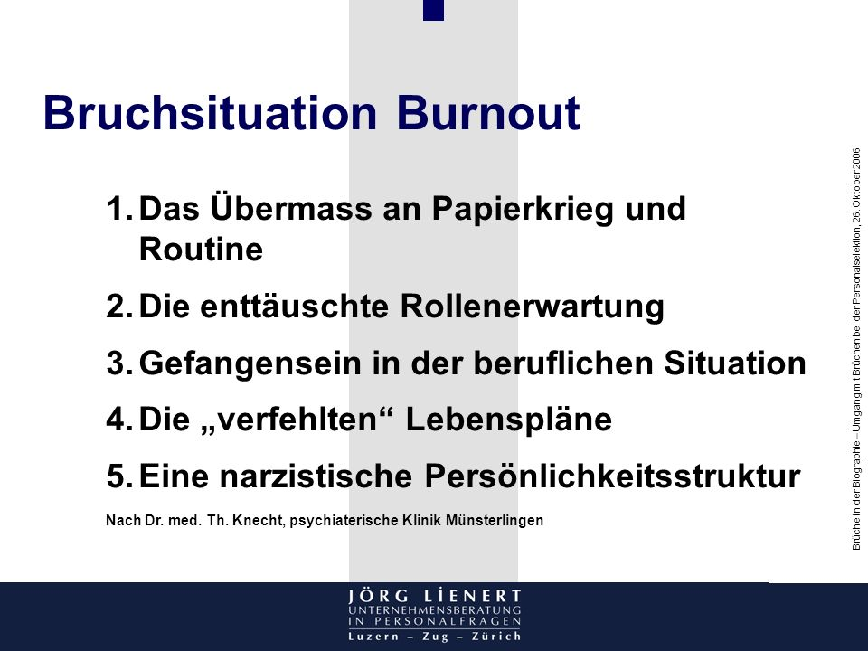 Bruchsituation Burnout