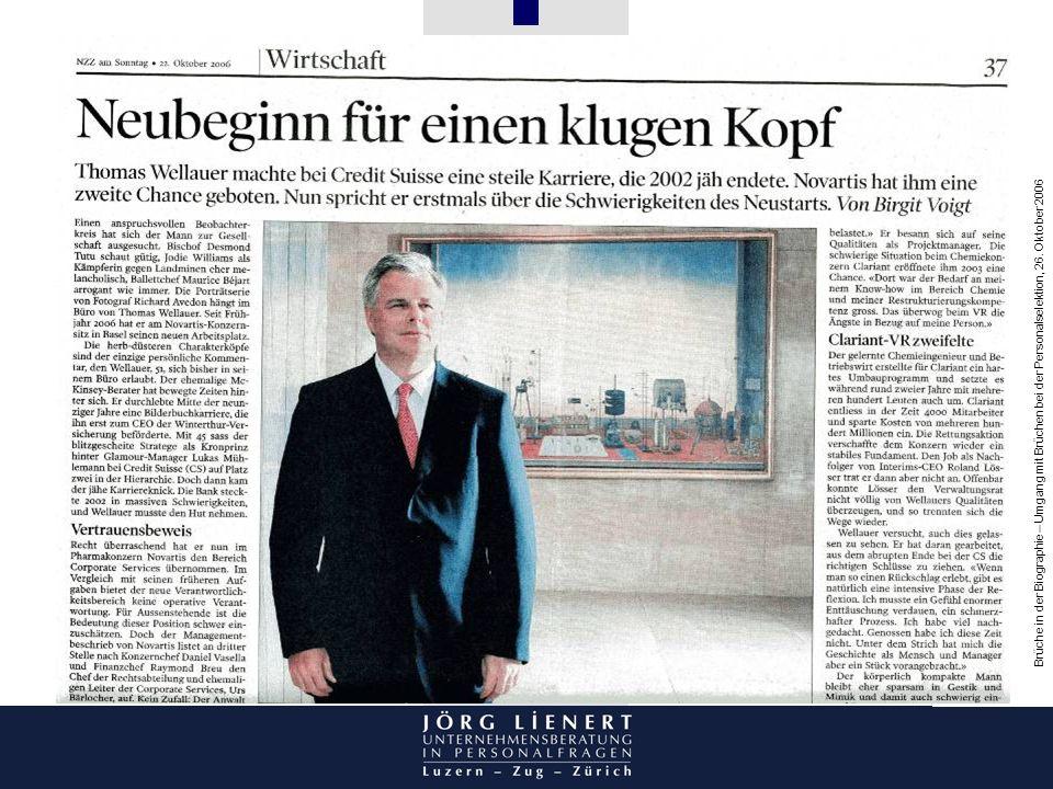 Abbildung Zeitungsartikel Thomas Wellauer