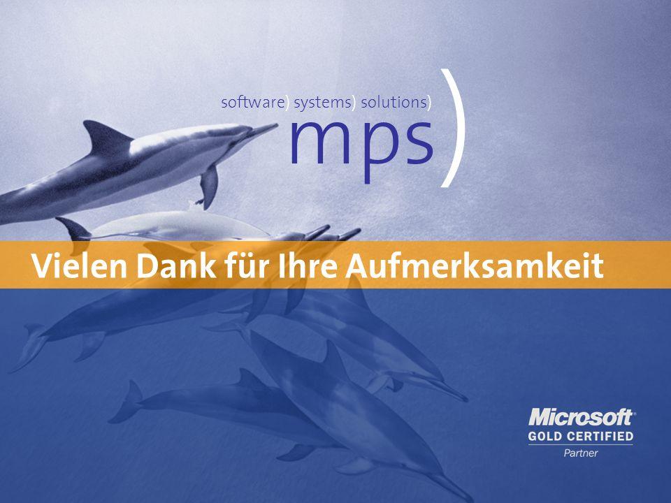 mps) Vielen Dank für Ihre Aufmerksamkeit software) systems) solutions)
