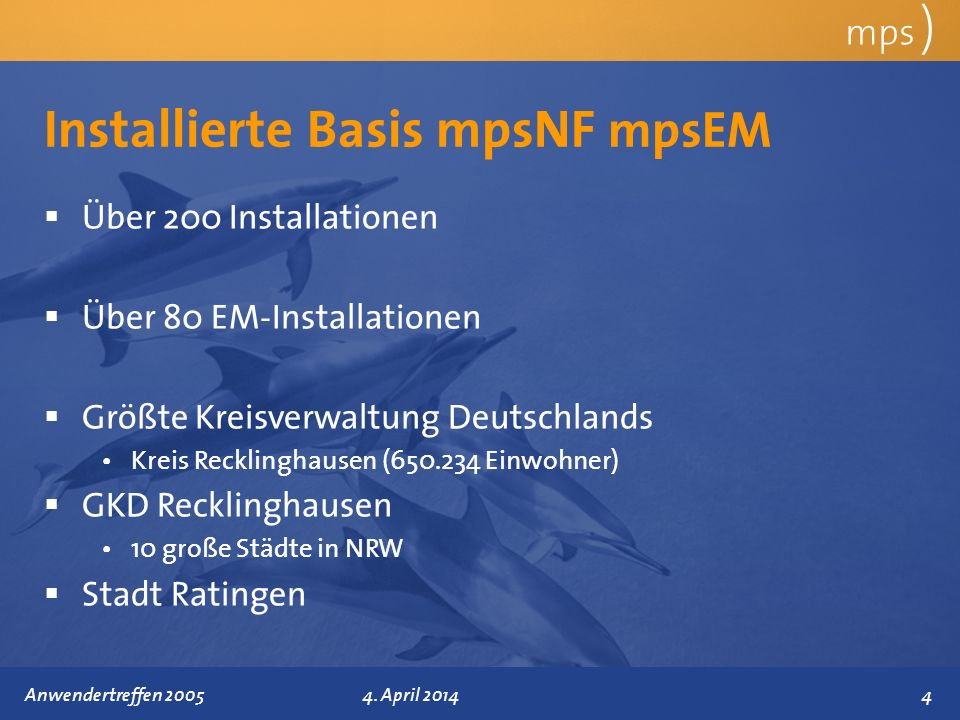 Installierte Basis mpsNF mpsEM