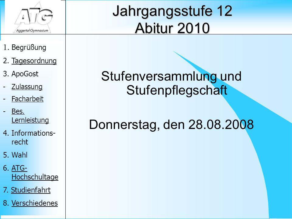Jahrgangsstufe 12 Abitur 2010
