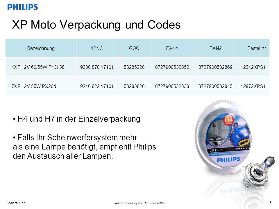 XP Moto Verpackung und Codes