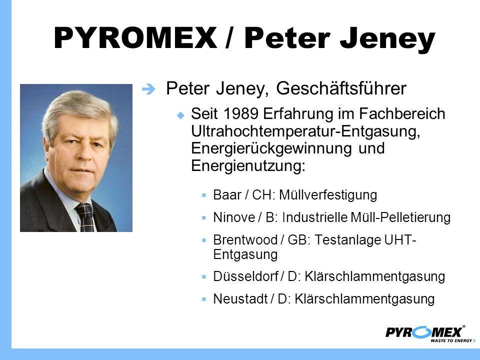 PYROMEX / Peter Jeney Peter Jeney, Geschäftsführer