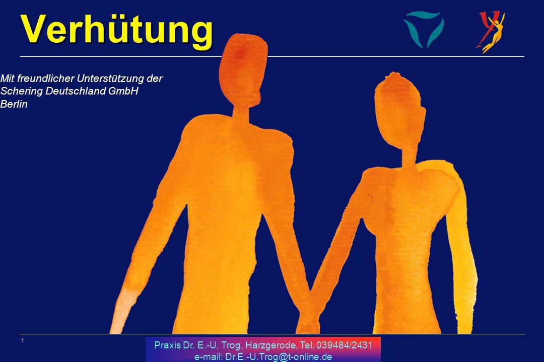 Verhütung Mit freundlicher Unterstützung der Schering Deutschland GmbH Berlin.