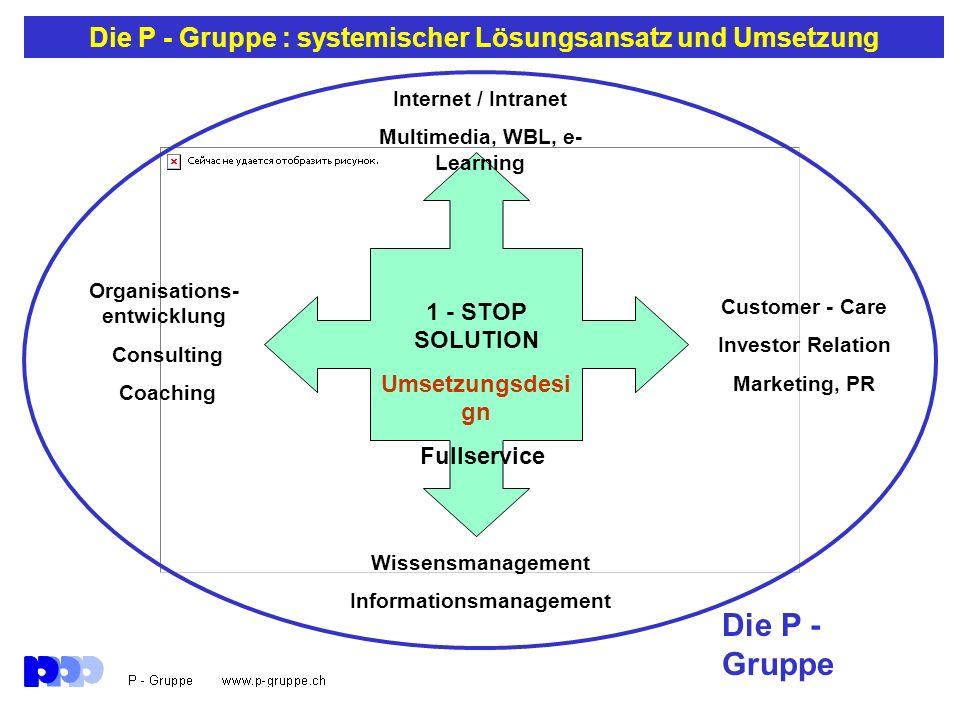Die P - Gruppe : systemischer Lösungsansatz und Umsetzung