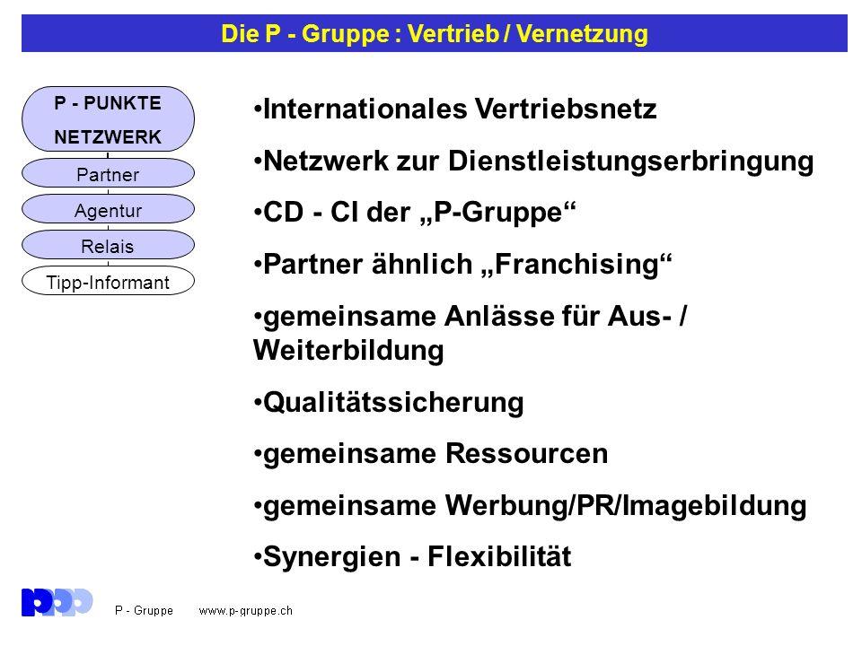 Die P - Gruppe : Vertrieb / Vernetzung