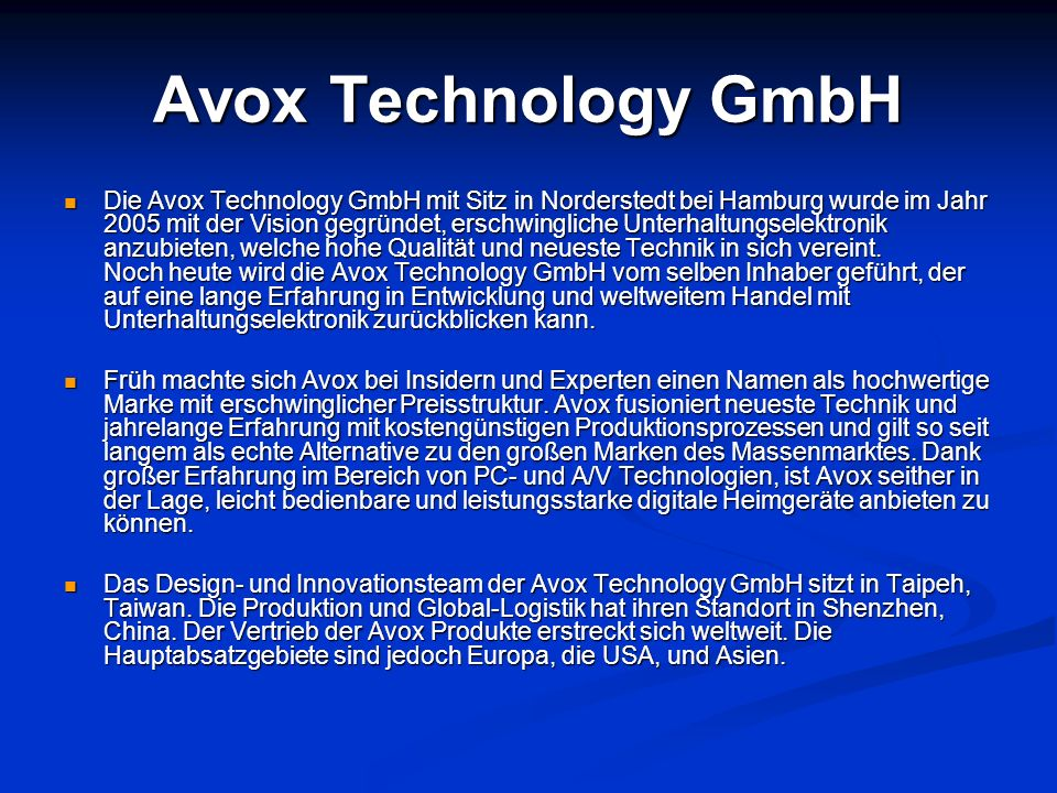 Avox Technology GmbH