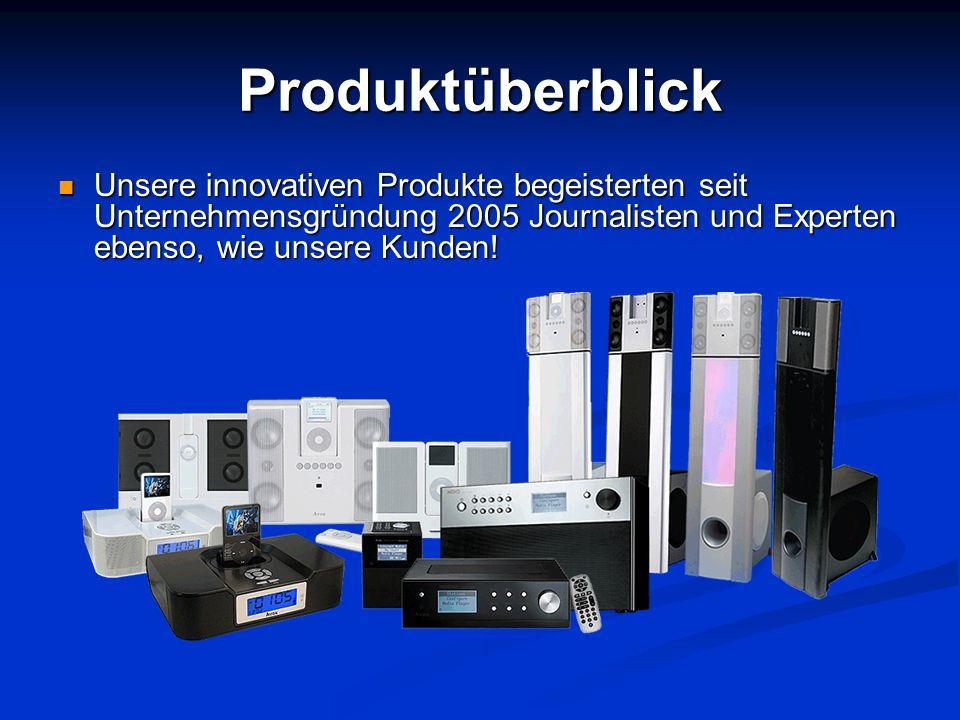 Produktüberblick Unsere innovativen Produkte begeisterten seit Unternehmensgründung 2005 Journalisten und Experten ebenso, wie unsere Kunden!