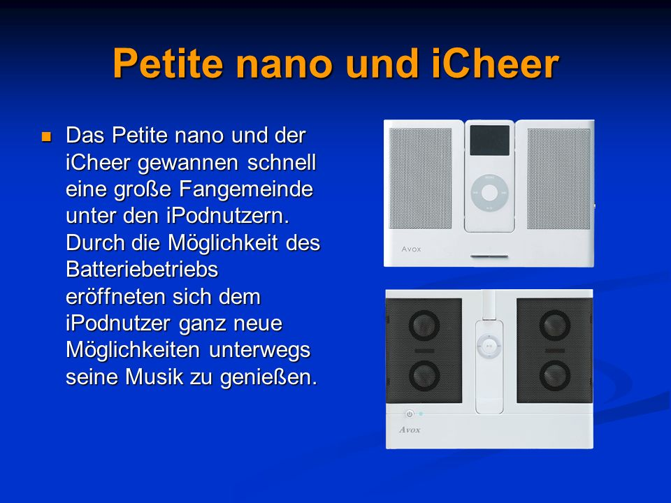 Petite nano und iCheer