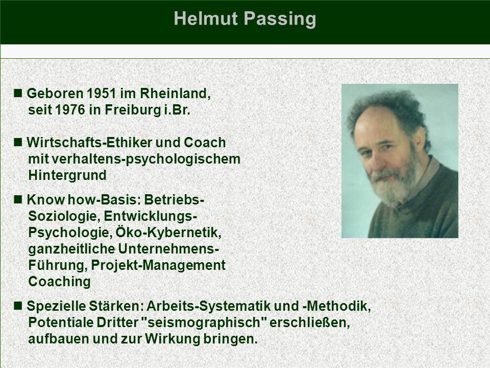 Helmut Passing  Geboren 1951 im Rheinland,