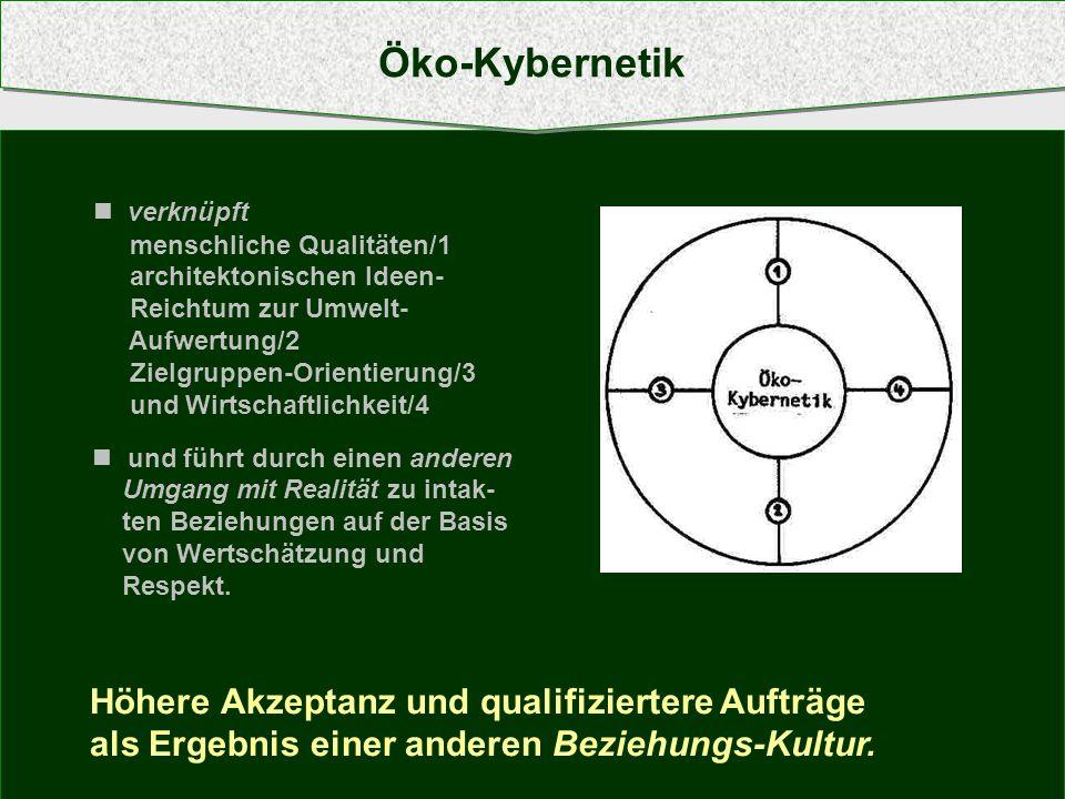 Öko-Kybernetik Höhere Akzeptanz und qualifiziertere Aufträge