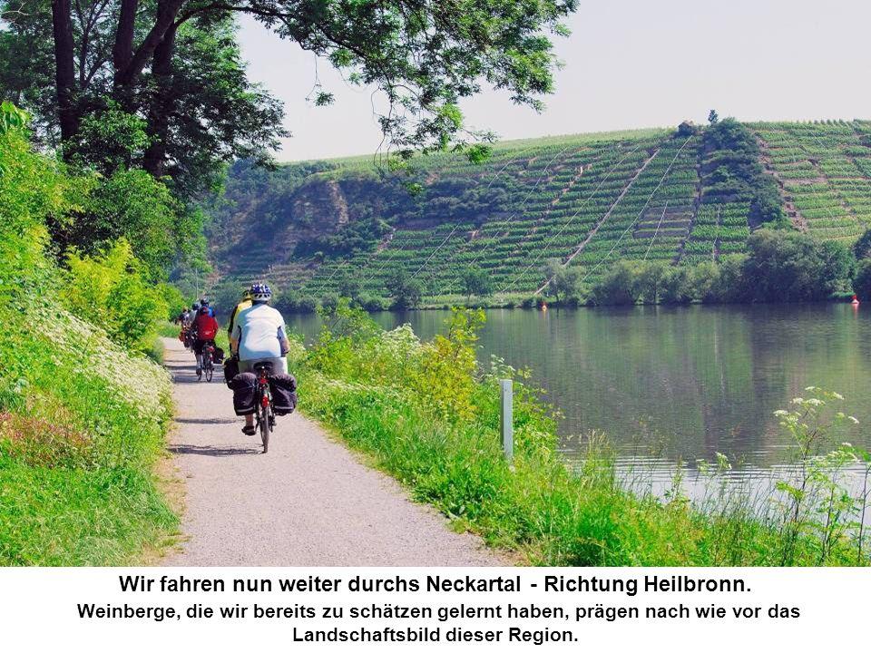 Wir fahren nun weiter durchs Neckartal - Richtung Heilbronn.