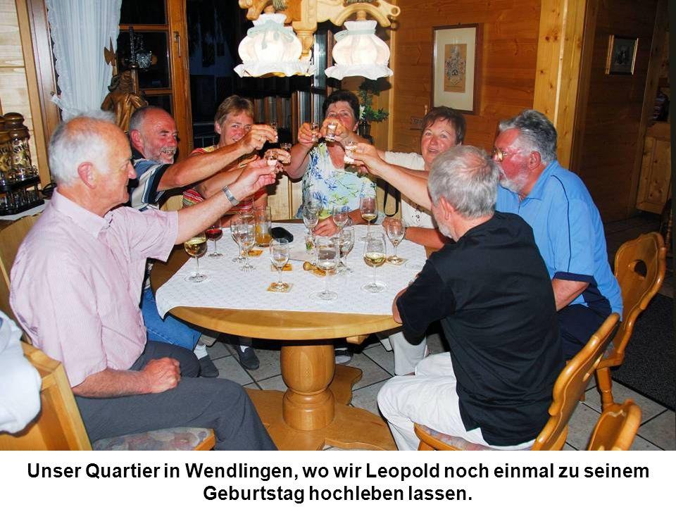 Unser Quartier in Wendlingen, wo wir Leopold noch einmal zu seinem Geburtstag hochleben lassen.