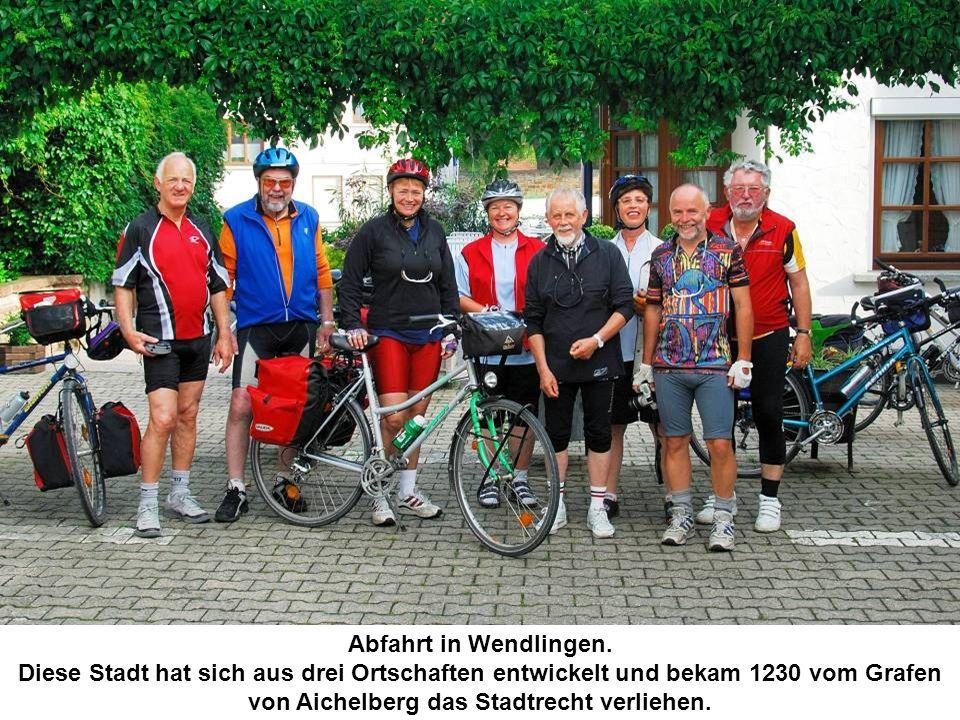 Abfahrt in Wendlingen.