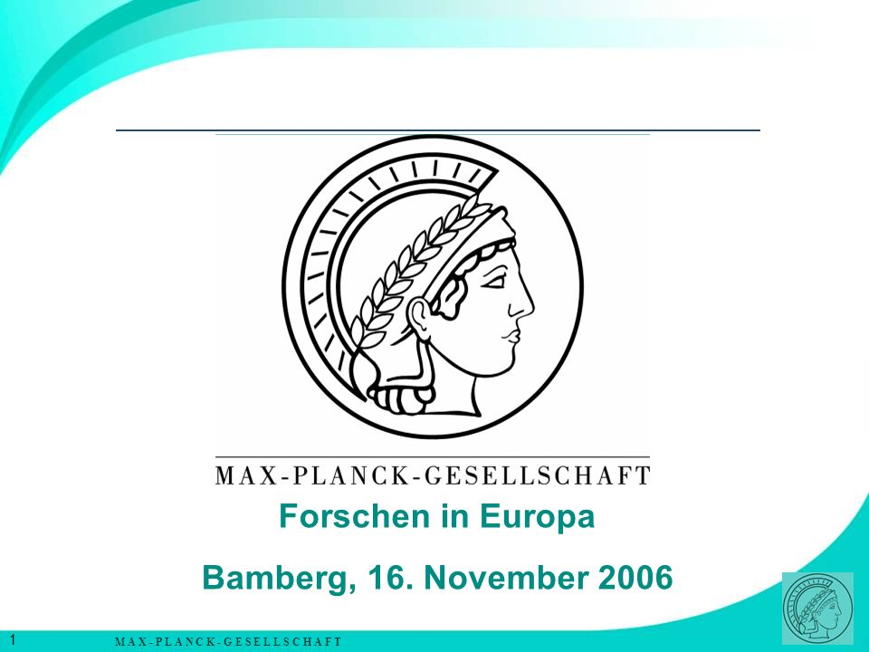 Forschen in Europa Bamberg, 16. November 2006