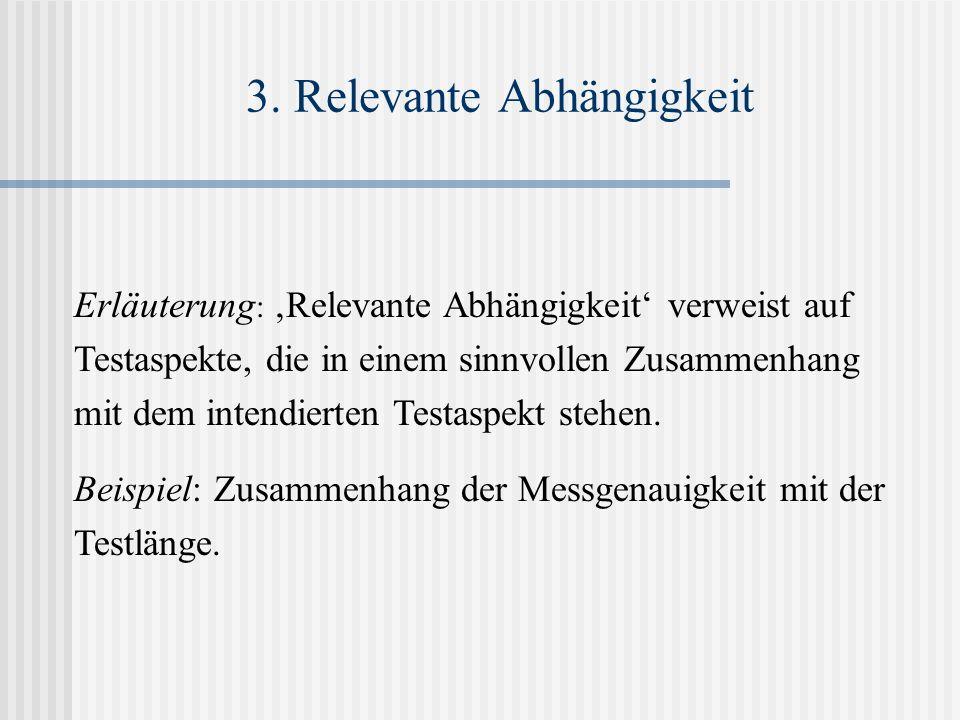3. Relevante Abhängigkeit