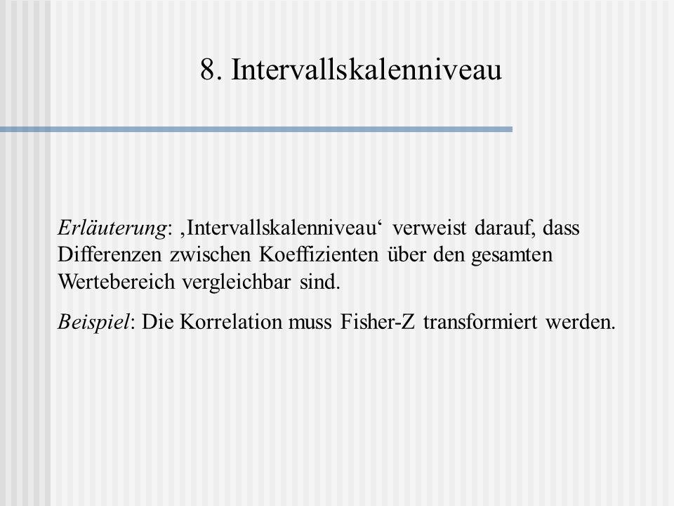 8. Intervallskalenniveau