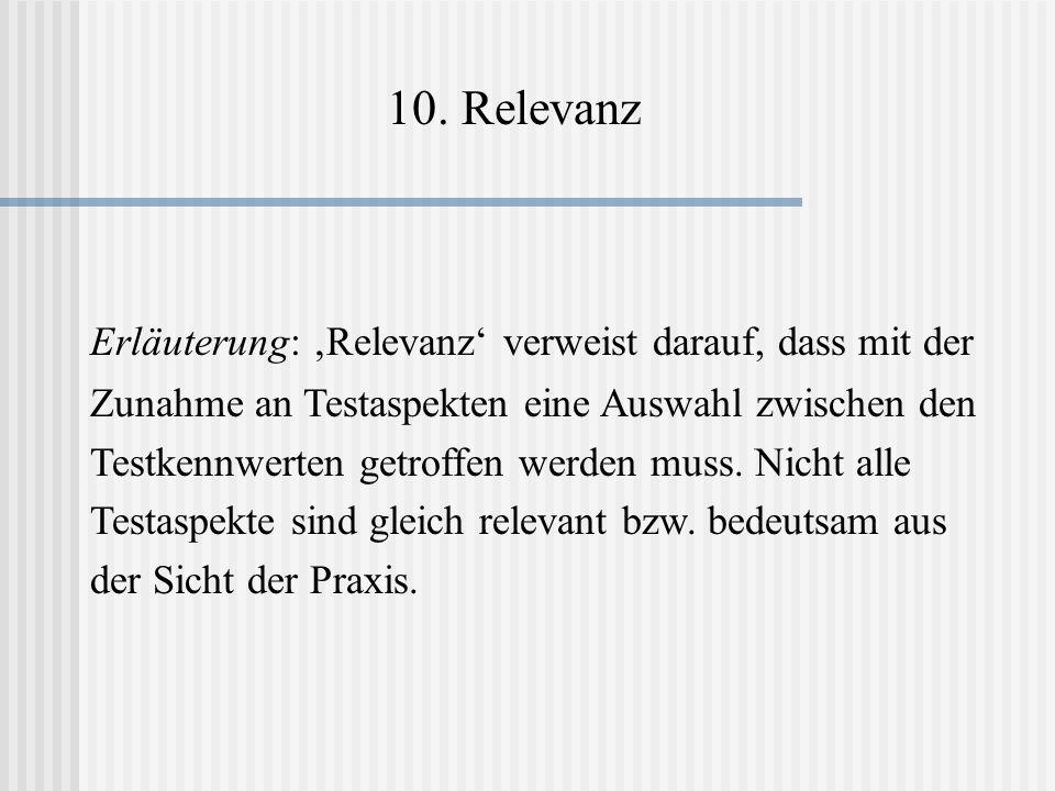 10. Relevanz