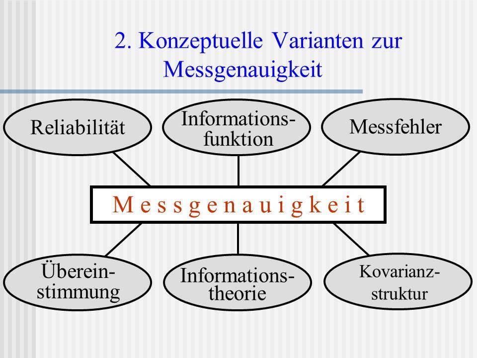 2. Konzeptuelle Varianten zur Messgenauigkeit