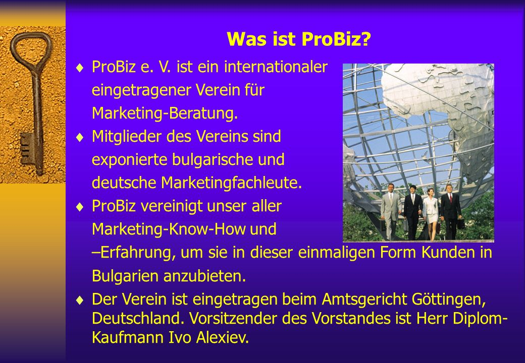 Was ist ProBiz ProBiz e. V. ist ein internationaler