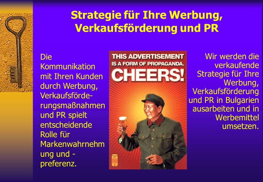 Strategie für Ihre Werbung, Verkaufsförderung und PR