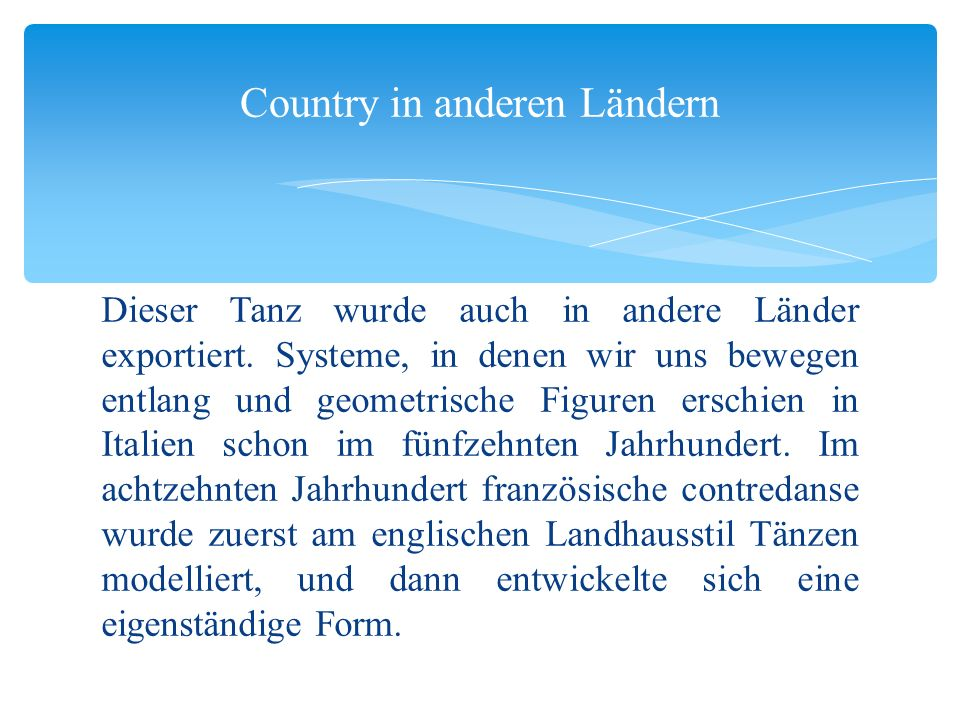 Country in anderen Ländern