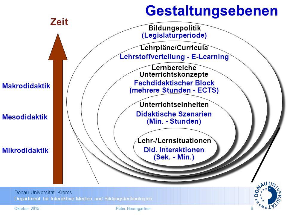 Gestaltungsebenen Zeit Bildungspolitik (Legislaturperiode)