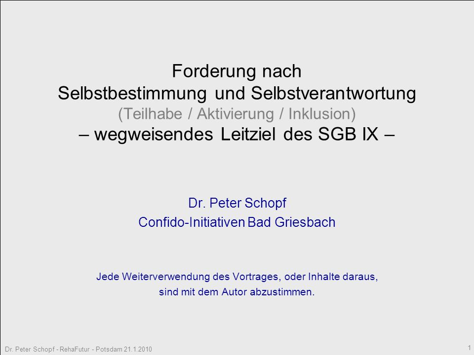 Confido-Initiativen Bad Griesbach