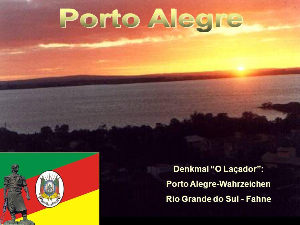 Porto Alegre-Wahrzeichen Rio Grande do Sul - Fahne
