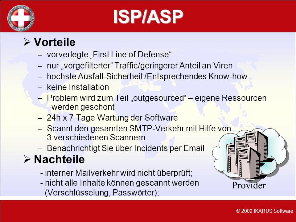 ISP/ASP Vorteile Nachteile Provider