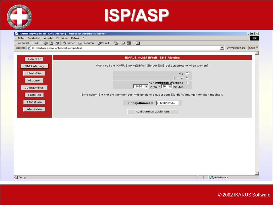 ISP/ASP © 2002 IKARUS Software