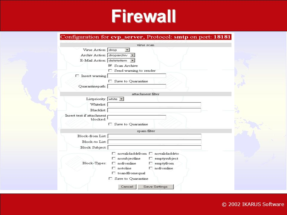 Firewall © 2002 IKARUS Software