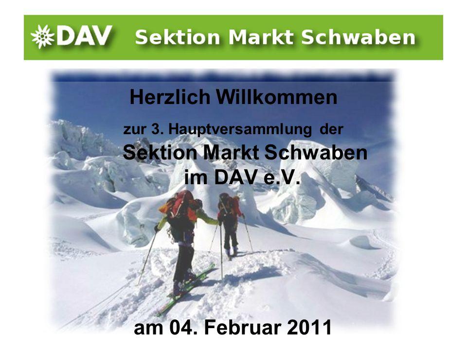 zur 3. Hauptversammlung der Sektion Markt Schwaben im DAV e.V.