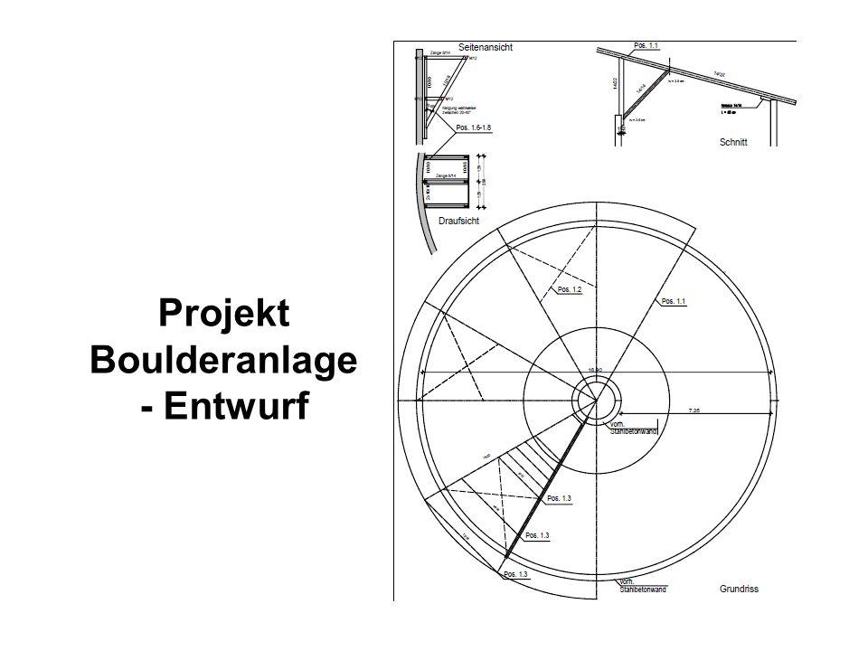 Projekt Boulderanlage - Entwurf