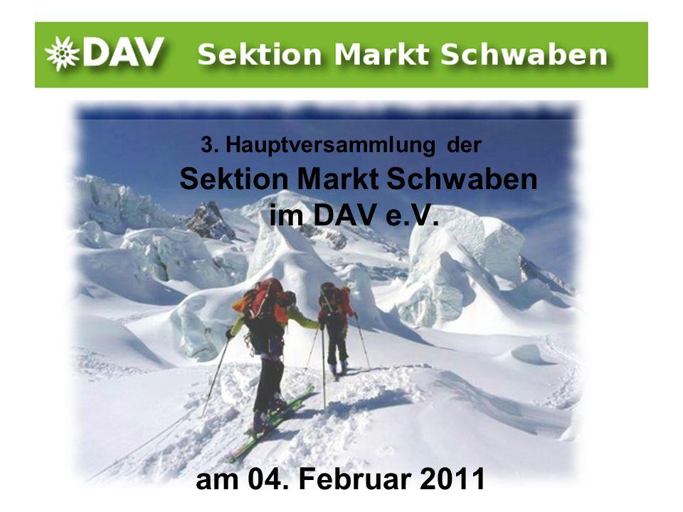 3. Hauptversammlung der Sektion Markt Schwaben im DAV e.V.