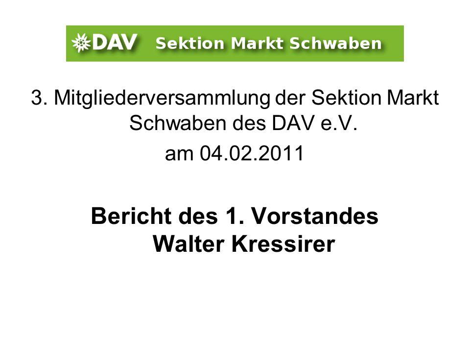 Bericht des 1. Vorstandes Walter Kressirer