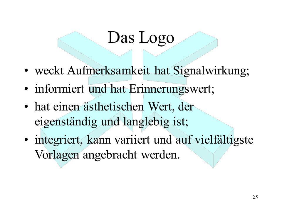 Das Logo weckt Aufmerksamkeit hat Signalwirkung;